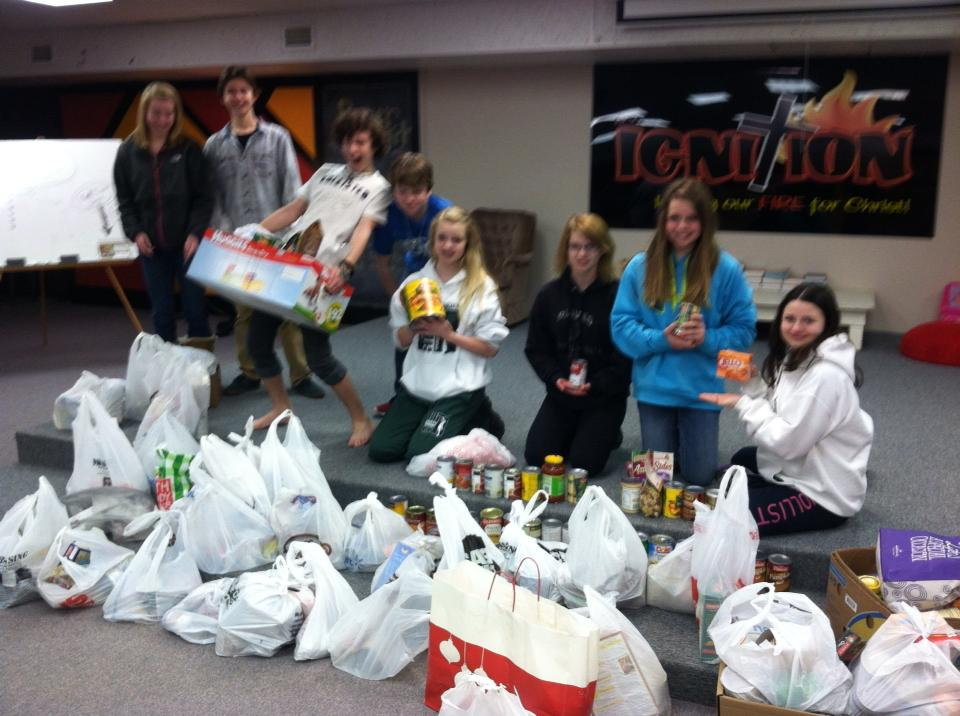 All canned goods collected in March