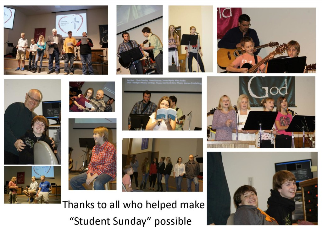 November's Student Sunday.  Over thirty 5th-12th grade students participated.